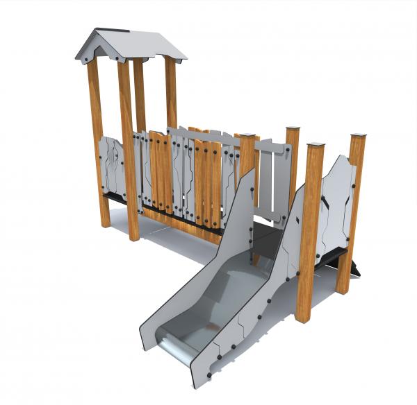 Rotaļu komplekss ar mājiņu HT026