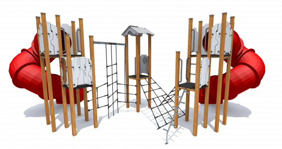 Rotaļu komplekss ar trubām HT276
