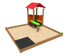 Sandbox with playhouse SK5