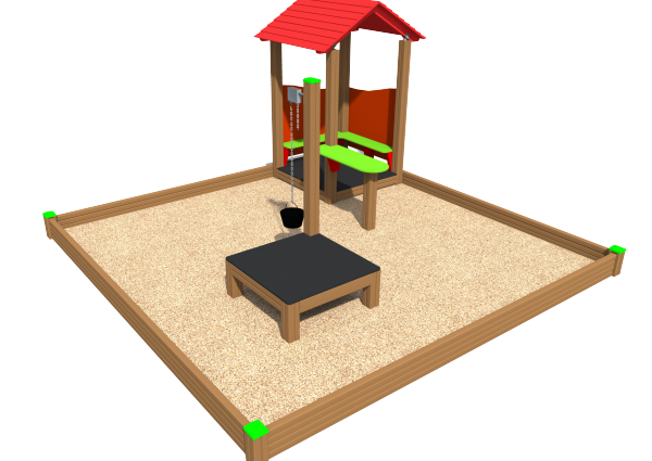 Sandbox with playhouse SK6