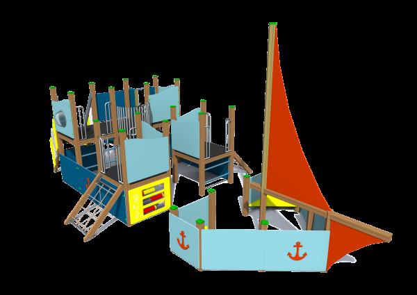 Rotaļu komplekss kuģis K6