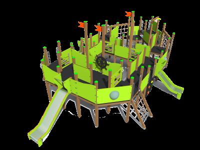 Rotaļu komplekss kuģis K7