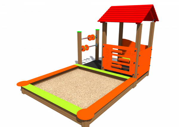 Sandbox with playhouse MA4 SK1