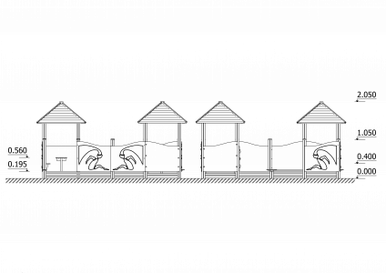 Smilšu kastes komplekss RSK1