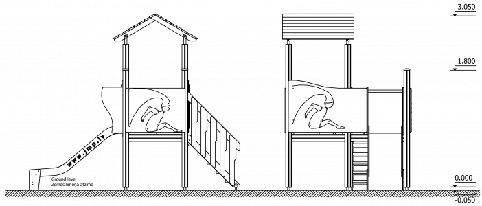 Rotaļu komplekss RRL1 Apple
